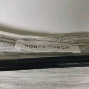 Honey Punch Tops - Honey Punch Top Space Dye Semi Sheer Floral